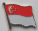 Singapore Country Flag Enamel Pin Badge